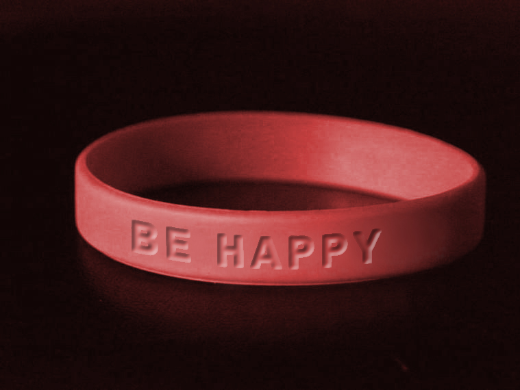 Be Happy Wristband from The Address Of Happiness