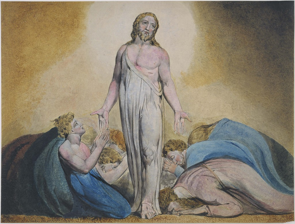 Jesus Christ Visits his apostle After The Resurrection - As Portrayed by artist, William Blake (18 -  )